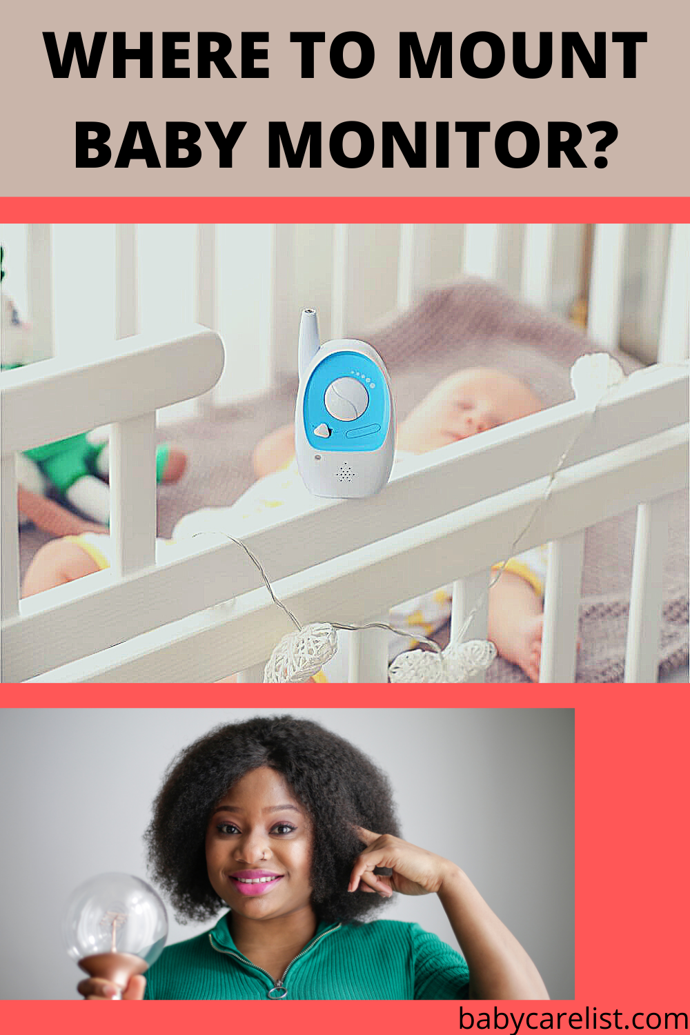 where to mount baby monitor