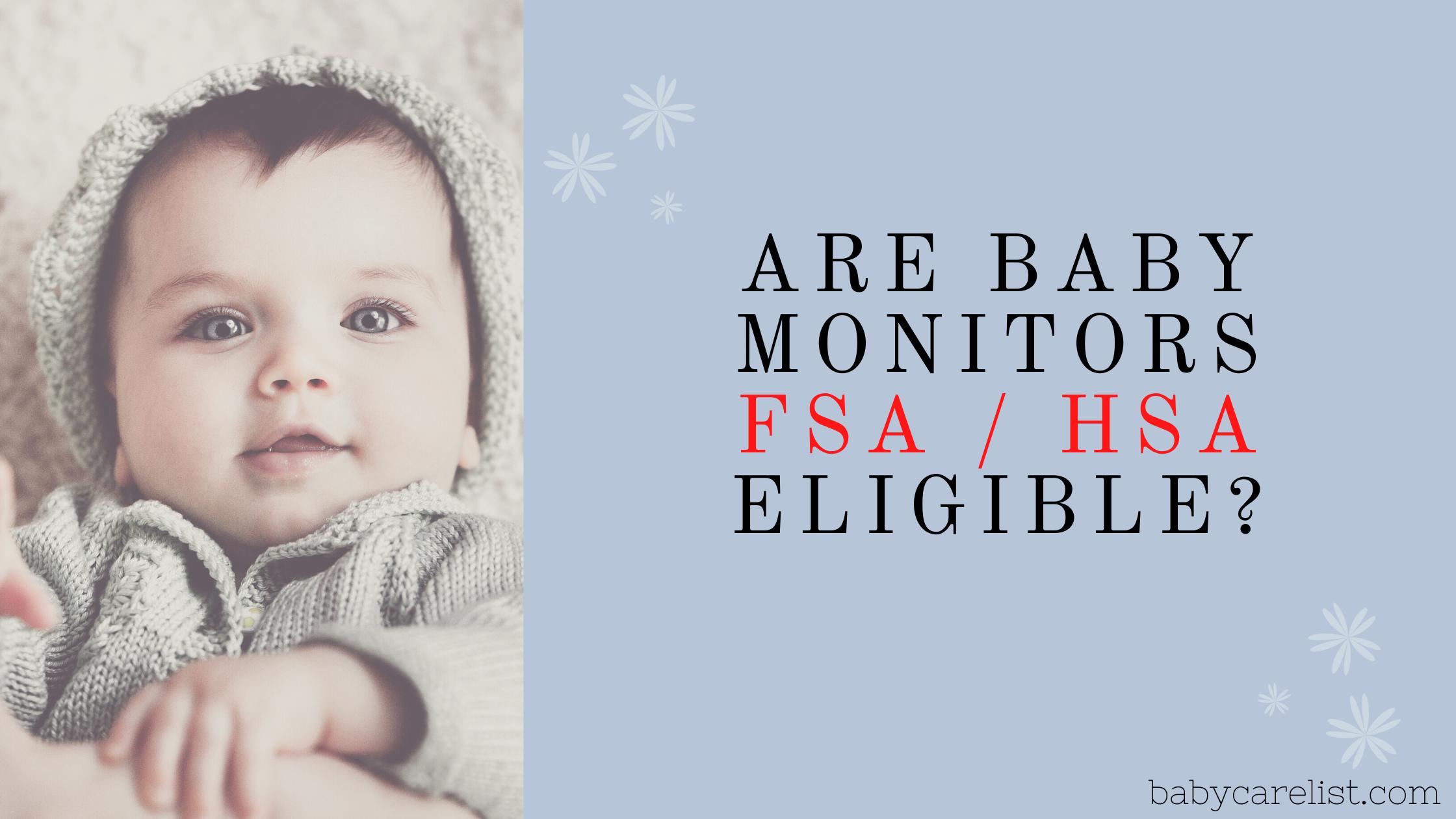 are baby monitors hsa fsa eligible